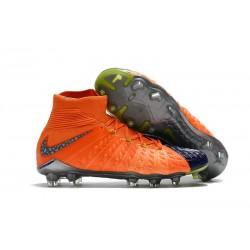 Nike HyperVenom Phantom III DF FG 2017 Limited Edition Soccer Shoes Orange Blue