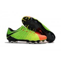 Nike 2017 Hypervenom Phantom III FG Firm Ground Low-cut Boots - Citrus Green Orange