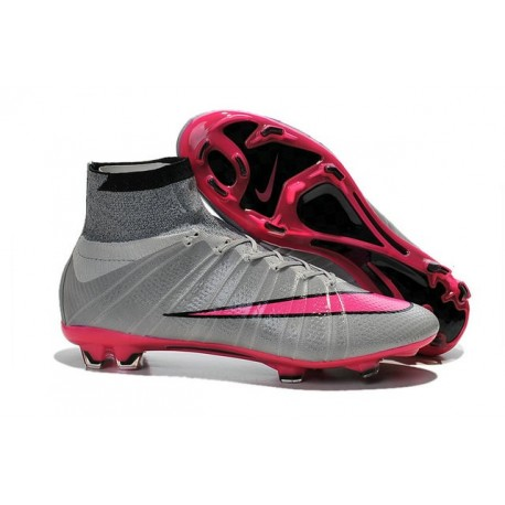Top Nike Mercurial Superfly Iv FG Firm Ground Cleat Grey Pink