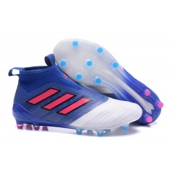 New 2017 adidas ACE 17+ Purecontrol Laceless FG - Blue Red White