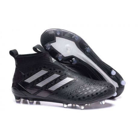 best website 6fb39 4455a New 2017 adidas ACE 17+ Purecontrol Laceless FG - Black Silver