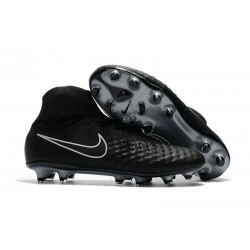 Nike Magista Obra II FG Firm Ground Men Cleat Black Silver