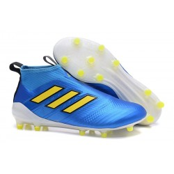 New 2017 adidas ACE 17+ Purecontrol Laceless FG - Blue Yellow