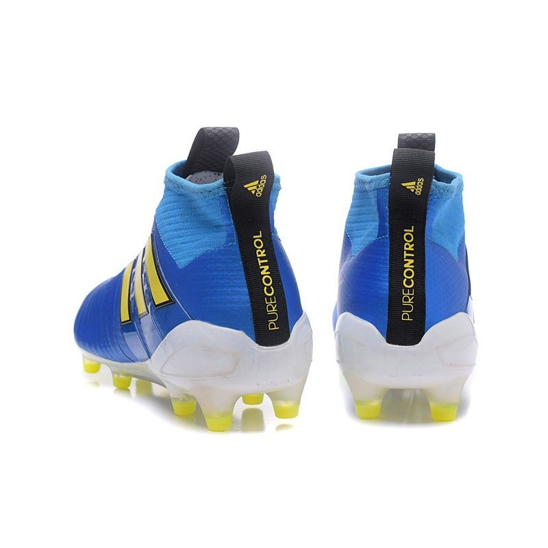 2b305d80352 New 2017 adidas ACE 17+ Purecontrol Laceless FG - Blue Yellow Maximize.  Previous. Next