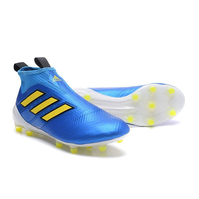 new arrivals 36ce4 09052 New 2017 adidas ACE 17+ Purecontrol Laceless FG - Blue Yellow