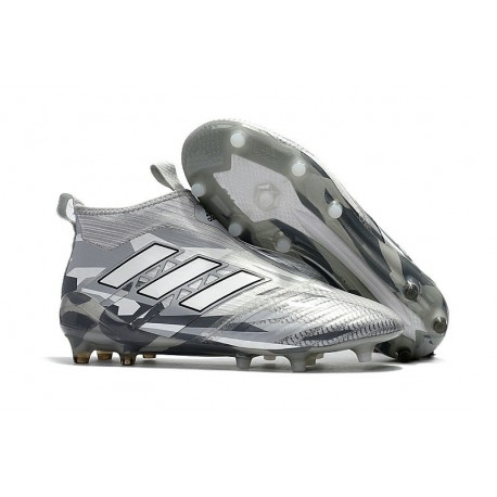 uk availability 4d975 e56fd New 2017 adidas ACE 17+ Purecontrol Laceless FG - Grey White