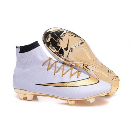 Top Nike Mercurial Superfly Iv FG Firm Ground Cleat White Gold
