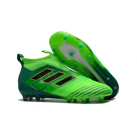 online store ad904 34d37 adidas ACE 17+ Purecontrol FG Top Soccer Boots -Solar Green Black