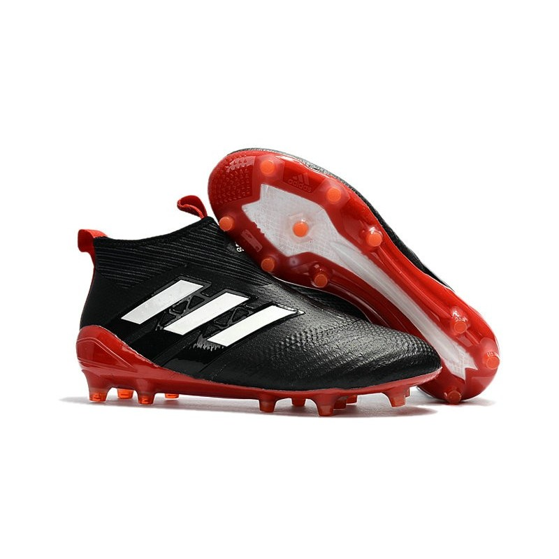 wholesale dealer 694f0 fcd12 adidas ACE 17+ Purecontrol FG Top Soccer Boots - Black Red W