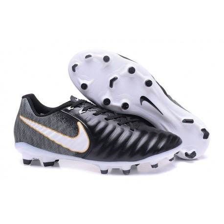 New 2017 Nike Tiempo Legend 7 FG Soccer Cleats - Black White