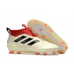 adidas ACE 17+ Purecontrol FG Top Soccer Boots - White Red Black