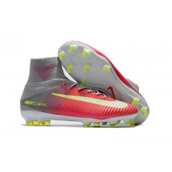 Nike Mercurial Superfly V FG Men's Soccer Boots Pink Grey White