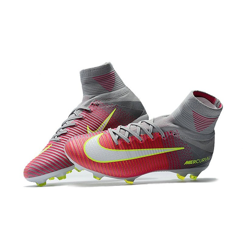 watch f37ff 5635a Nike Mercurial Superfly V FG Men's Soccer Boots Pink Grey White