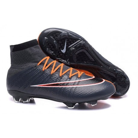 Top Nike Mercurial Superfly Iv FG Firm Ground Cleat Black Orange