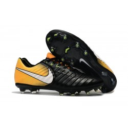 New 2017 Nike Tiempo Legend 7 FG Soccer Cleats - Black Yellow White