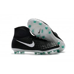 Nike Magista Obra 2 FG High Top Soccer Boots Black White