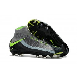 Nike Hypervenom Phantom 3 DF Men Firm-Ground Soccer Boots Air Max Gray Black