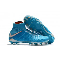 Nike Hypervenom Phantom 3 DF Men Firm-Ground Soccer Boots Blue White