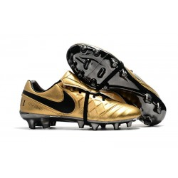 New 2017 Nike Tiempo Totti X Roma Soccer Cleats - Golden Black