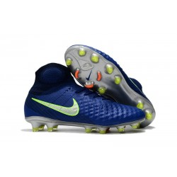 Nike Magista Obra 2 FG High Top Soccer Boots Deep Blue
