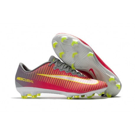 Mens 2017 Nike Mercurial Vapor 11 FG Football Boots Pink White