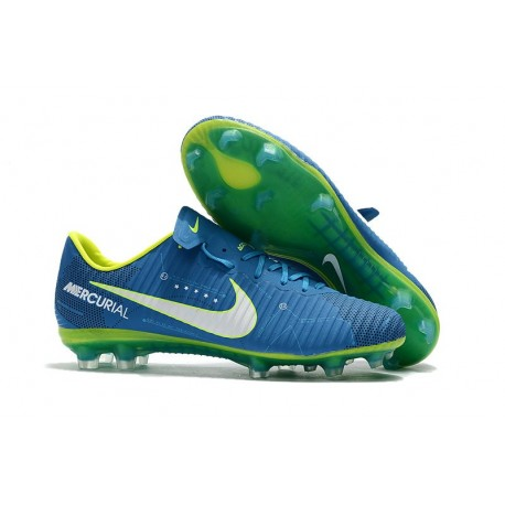 Neymar Blue White 2017 Nike Mercurial Vapor 11 FG Football Boots