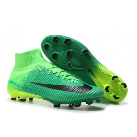Nike Mercurial Superfly V FG Men's Soccer Boots Green Black