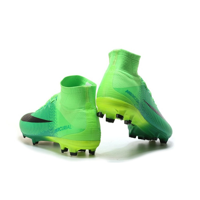chaussures de séparation bea89 b9bea Nike Mercurial Superfly V FG Men's Soccer Boots Green Black