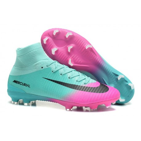new product 434a1 03de7 Top Nike Mercurial Superfly 5 FG Football Boot Blue Pink Black