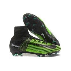 Top Nike Mercurial Superfly 5 FG Football Boot Green Black