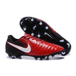 New 2017 Nike Tiempo Legend 7 FG Soccer Cleats - Red Black White