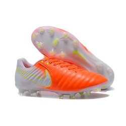 New 2017 Nike Tiempo Legend 7 FG Soccer Cleats - Orange White