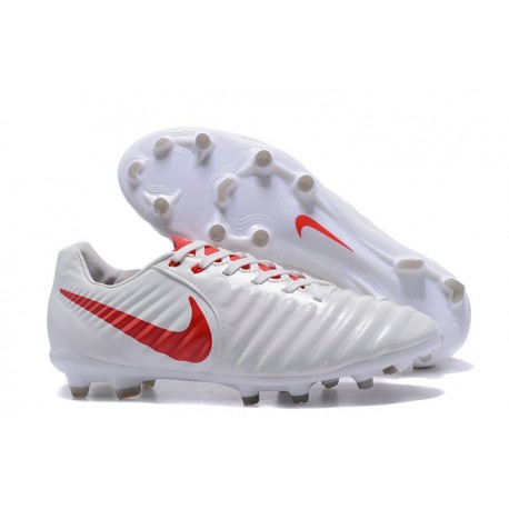 New 2017 Nike Tiempo Legend 7 FG Soccer Cleats - White Red