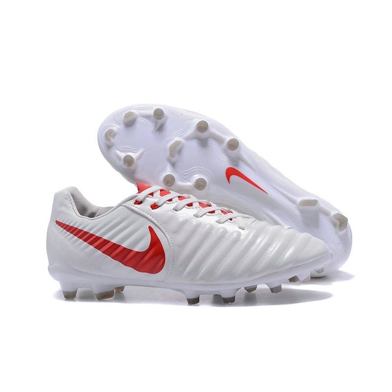 new style 4cede 2d8d9 New 2017 Nike Tiempo Legend 7 FG Soccer Cleats - White Red