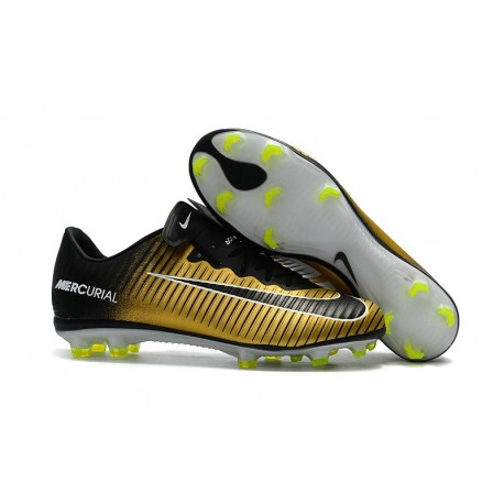 Mens 2017 Nike Mercurial Vapor 11 FG Football Boots Yellow Black