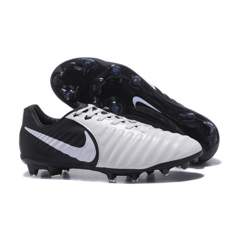 Nike Tiempo Legend VII FG Kangaroo Leather Shoes - White Black
