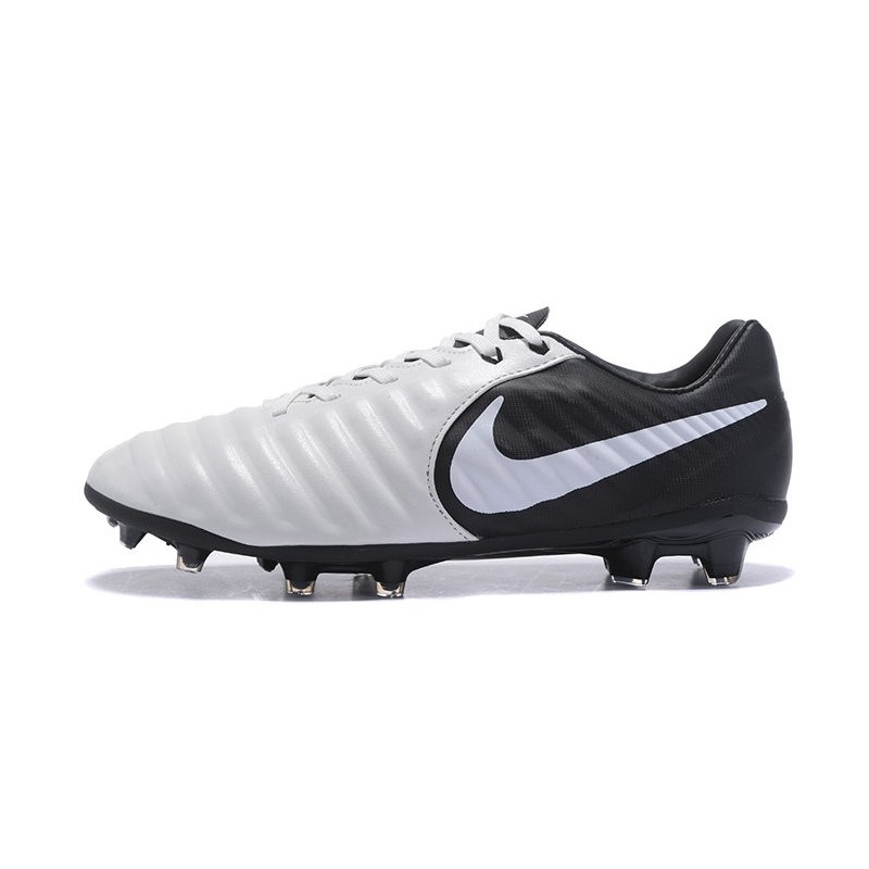 Comité voluntario Ligadura  Nike Tiempo Legend VII FG Kangaroo Leather Shoes - White Black