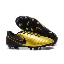 Nike Tiempo Legend VII FG Kangaroo Leather Shoes - Golden Black