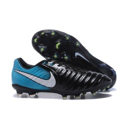 Nike Tiempo Legend VII FG Kangaroo Leather Shoes - Blue Black