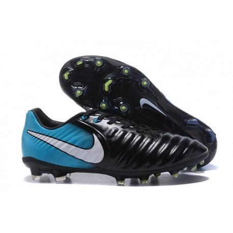 77f027db8414 Nike Tiempo Legend VII FG Kangaroo Leather Shoes - Blue Black