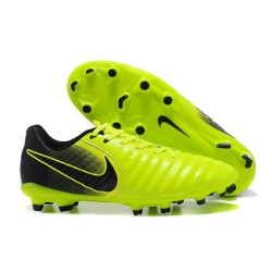 Nike Tiempo Legend VII FG Kangaroo Leather Shoes - Green Black