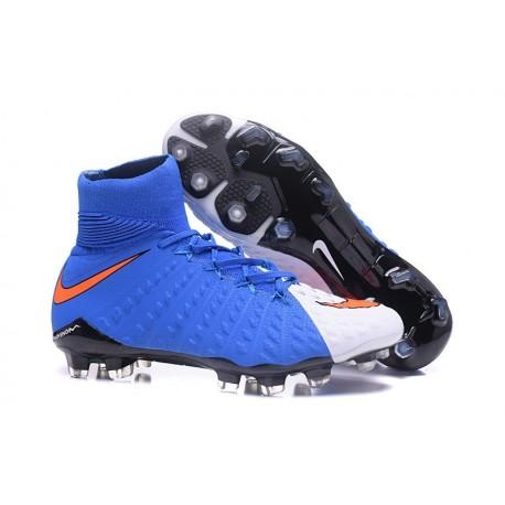 Nike Hypervenom Phantom 3 DF Men Firm-Ground Soccer Boots Blue White