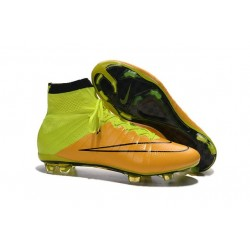 Nike Mercurial Superfly FG ACC New Shoes Leather Yellow Volt