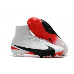 Top Nike Mercurial Superfly 5 FG Football Boot White Black Red