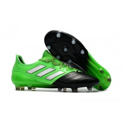 New adidas Ace 17.1 Leather FG Football Boots - Green Black Silver