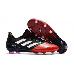New adidas Ace 17.1 Leather FG Football Boots - Black Red White