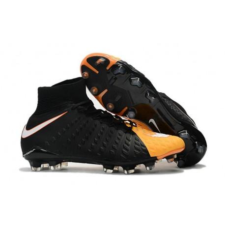 Nike Hypervenom Phantom 3 DF Men Firm-Ground Soccer Boots Black Orange