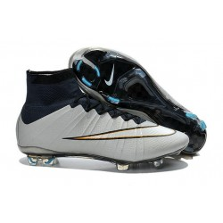 Nike Mercurial Superfly FG ACC CR7 Silver White Black New Shoes