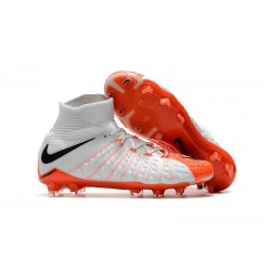Nike Hypervenom Phantom III Dynamic Fit FG ACC - White Orange
