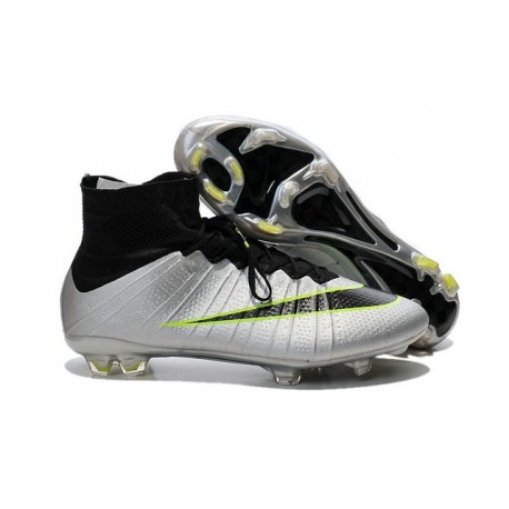 Nike Mercurial Superfly FG ACC New Shoes Silver Black Green